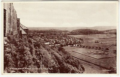 KINGS KNOT FROM STIRLING CASTLE - Scotland - 1949 used postcard