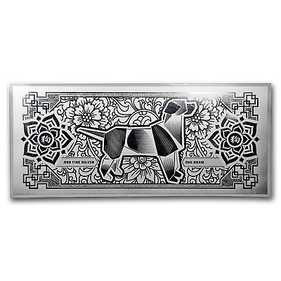 1 gram Silver Foil Note - APMEX 2018 Year of the Dog - SKU#176536
