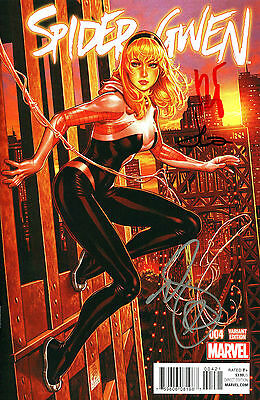 Spider-Gwen #4 Variant Edition Signed Mark Brooks, Robbi Rodriguez, Jason Latour