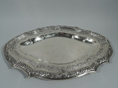 Antique Tray - European Continental Serving Dish - Portuguese Silver - 18th C