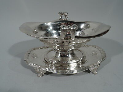 Odiot Gravy Boat on Stand - Antique Belle Epoque Sauce - French 950 Silver