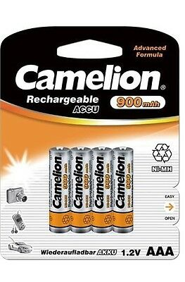 4 X Camelion Micro Ni-Mh AAA HR03 900mAh 1,2v V Accumulateur Batterie pour
