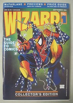 WIZARD #1 THE GUIDE TO COMICS 1991 TODD McFARLANE SPIDER-MAN COVER