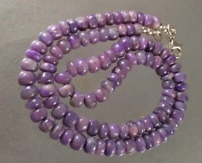dkd#36/146.8cts Partly GEL Orchid, Pink, Violet Sugilite Beads/ Necklace