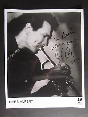 entertainer HERB ALPERT Autographed 8X10 Signed Photo with inscription VINTAGE