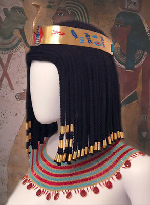 Ancient Egyptian Style Hand-beaded Broad Collar Nefertiti, Cleopatra, Nile Queen