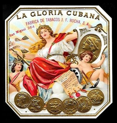 """AWESOME Cigar Label """"LA GLORIA"""" ~GREAT LABELS & BANDS~"""