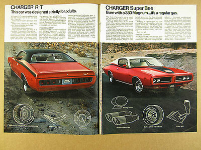 1971 Dodge SCAT PACK Charger RT Super Bee Challenger R/T TA Demon 340 vintage Ad
