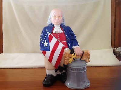 Ben Franklin limited edition cookie jar by Treasure Craft