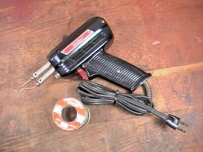 Vintage &Tested Weller #8100-B Soldering Gun W/ Work Light & Some Solder