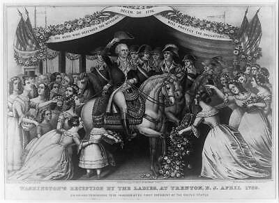 George Washington's reception by the ladies,at Trenton,N.J. April 1789