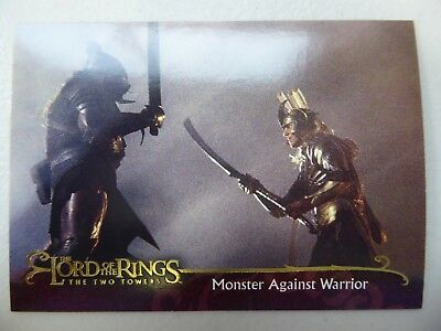 TOPPS Lord of the Rings: The Two Towers - Card #67 MONSTER AGAINST WARRIOR