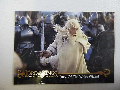 TOPPS Card : LOTR The Return Of The King  #75 FURY OF THE WHITE WIZARD