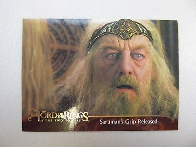 TOPPS Lord of the Rings: The Two Towers - Card #117 SARUMAN'S GRIP RELEASED