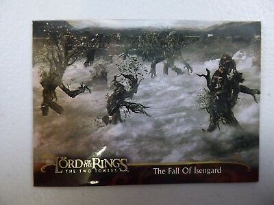 TOPPS Lord of the Rings: The Two Towers - Card #147 THE FALL OF ISENGARD