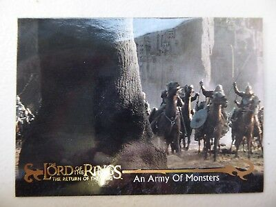 TOPPS Card : LOTR The Return Of The King  #57 AN ARMY OF MONSTERS