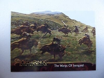 TOPPS Lord of the Rings: The Two Towers - Card #125 THE WARGS OF ISENGARD