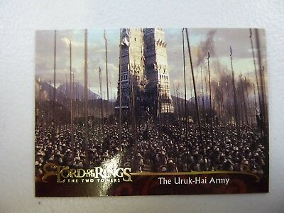 TOPPS Lord of the Rings: The Two Towers - Card #130 THE URUK HAI ARMY