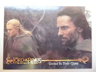 TOPPS Card : LOTR The Return Of The King  #157 UNITED IN THEIR QUEST
