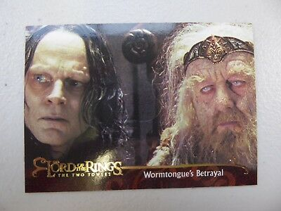 TOPPS Lord of the Rings: The Two Towers - Card #115 WORMTONGUE'S BETRAYAL