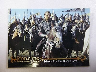 TOPPS Card : LOTR The Return Of The King  #73 MARCH ON THE BLACK GATES