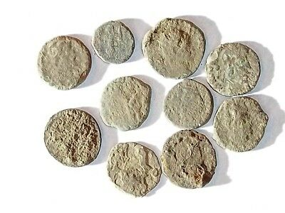 10 ANCIENT ROMAN COINS AE3 - Uncleaned and As Found! - Unique Lot X25926