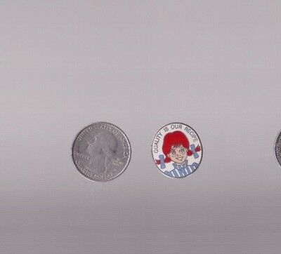Vintage Wendy's restaurant lapel pin QUALITY IS OUR RECIPE W/ WENDY pinback