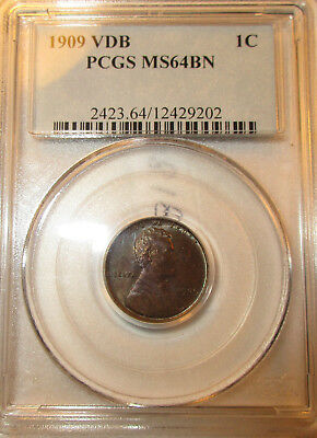 1909 VDB Lincoln Wheat Cent-Penny  PCGS Registered MS64BN  10081821