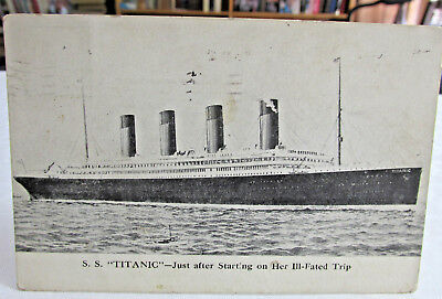 June 6 1912 S.S. TITANIC Postcard, Just after Starting on her Ill fated Trip