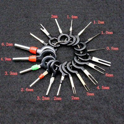 18x Car Wire Terminal Removal Tools Kit Wiring Connector Pin Extractor Puller ju
