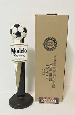 """Modelo Especial Cerveza Soccer Ball Beer Tap Handle 11.5"""" Tall Brand New In Box!"""