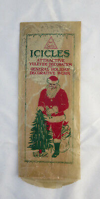 Early Vintage Package of Icicles Icicles/Tinsel USA