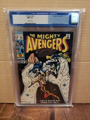 The Avengers #64 CGC 9.2 Off White Pages May 1969