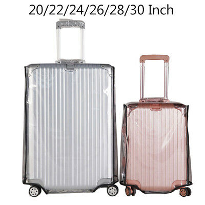 Clear PVC Plastic Travel Luggage Cover Suitcase Protector 20/22/24/26/28/30 inch