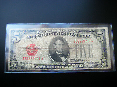 $5 1928 B United States Note  Low Grade
