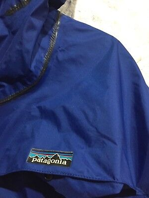Vintage old school PATAGONIA nylon rainproof Hooded PARKA Shell M made in JAPAN