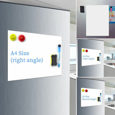 A3/A4 Reminder Fridge Magnetic Whiteboard Family Message Board Office Notes Memo