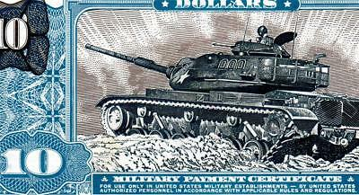 HGR FRIDAY Series 681 $10 MPC RARE (Tank/Soldier/Helicopter) SUPERB GEM UNC