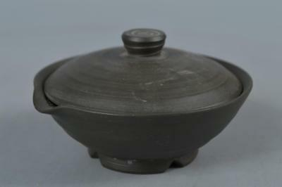 M8019: Japanese Tokoname-ware Brown pottery TEA POT Houhin Kyusu Sencha