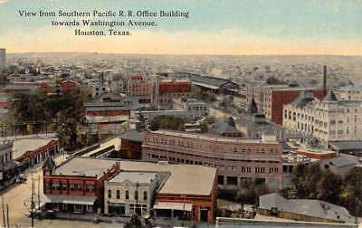 Houston Texas Southern Pacific Railroad Antique Postcard K431974