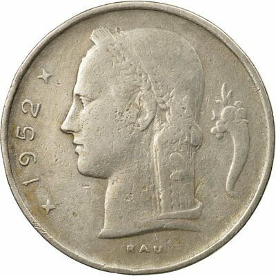 [#445068] Monnaie, Belgique, Franc, 1952, TTB, Copper-nickel, KM:143.1