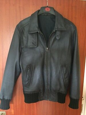 mens 70's jacket leather vintage