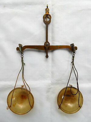 Small Antique Brass Weighing Balance to 20 gm.