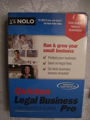 Nolo Quicken Legal Business Pro Cd And Ver 15