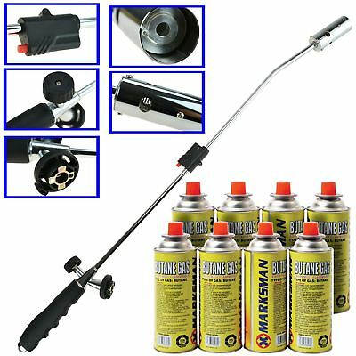 Weed Burner Moss Fungus Killer Wand Butane Gas Canister Blowtorch Garden Outdoor