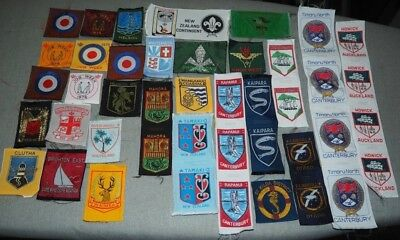 43 Assorted Soft Style Scout Badges - Patches from Australia & New Zealand