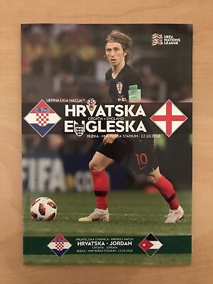 Croatia v England - Nations League October 12th 2018 - Official Programme - Rare