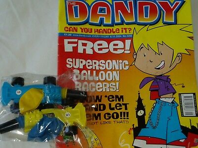 """DANDY COMIC...Oct..2004....PLUS """"FREE GIFT """"Supersonic Balloon Racers""""......"""