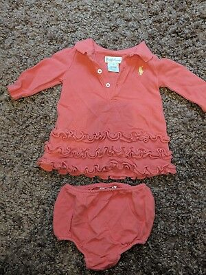 Ralph Lauren Romper With Matching Knickers 3 Months