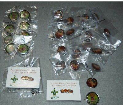 27 Assorted Scouting Pins / Buttons - GREAT TRADING STOCK!